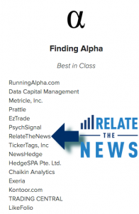 RelateTheNews Best in Class - Finding Alpha 2016